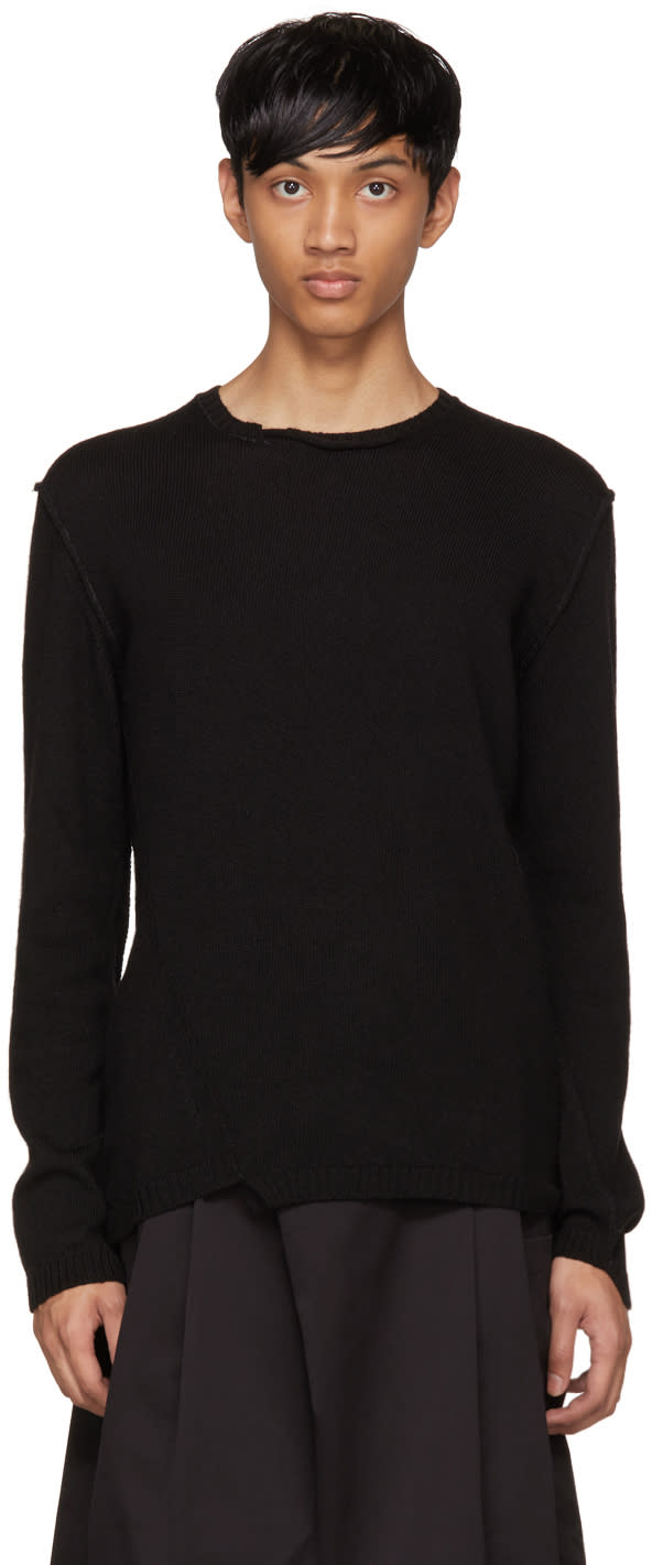 Image of Isabel Benenato Black Contrast Sweater