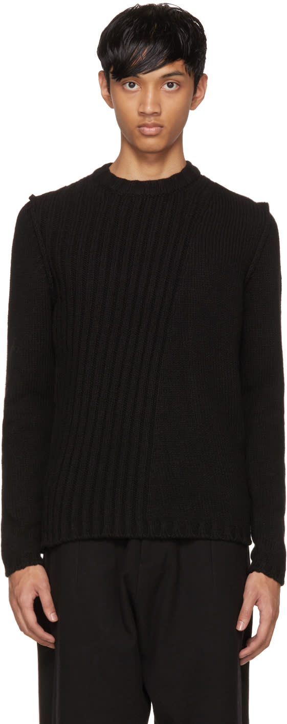 Image of Isabel Benenato Black Alpaca Sweater