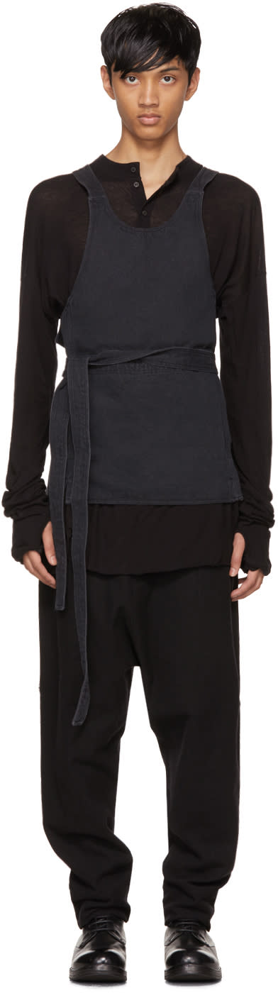 Image of Isabel Benenato Black Belted Pocket Apron Top