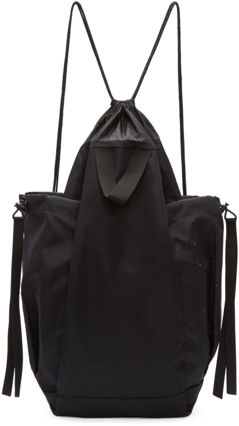 Image of Satisfy Black Bombardier Gym Backpack