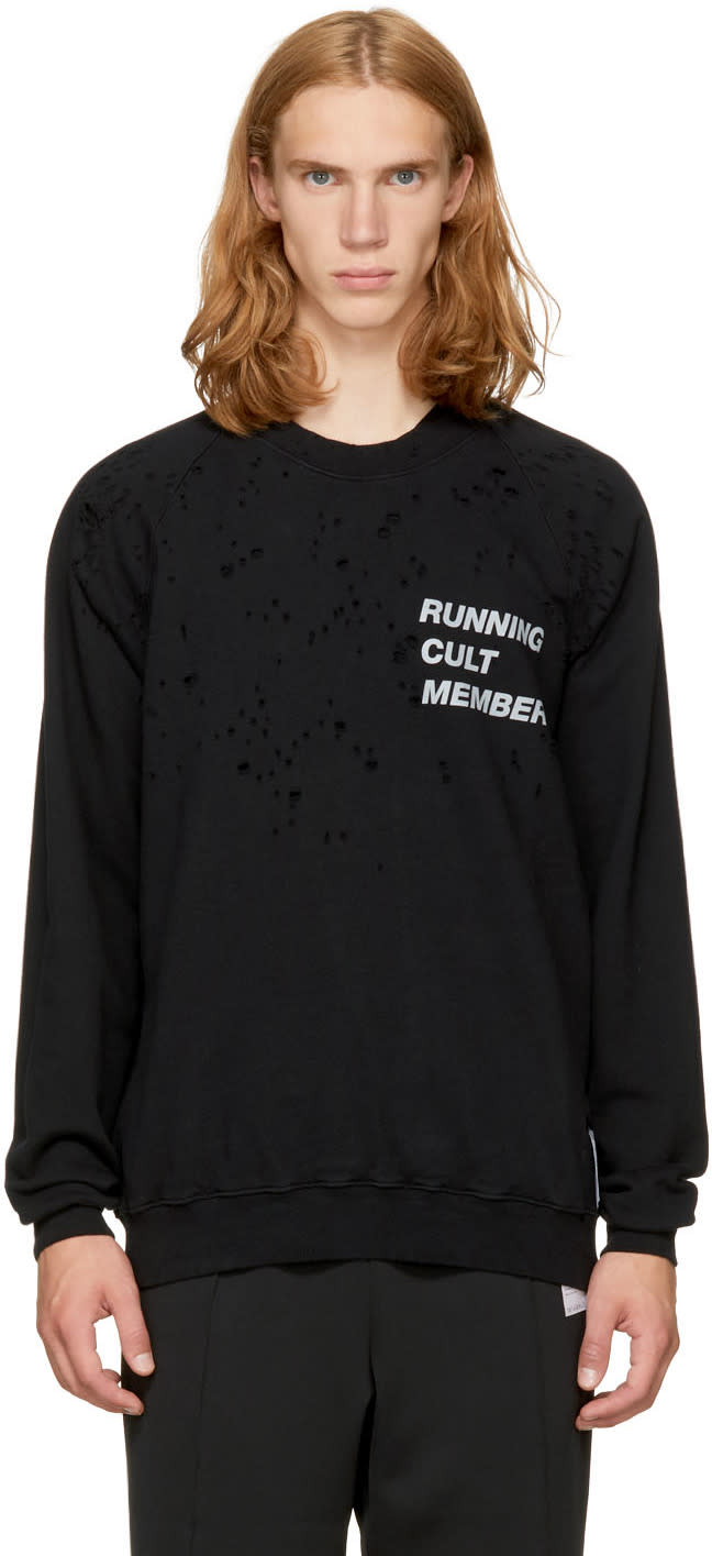 Image of Satisfy Black cult Moth Eaten Sweatshirt