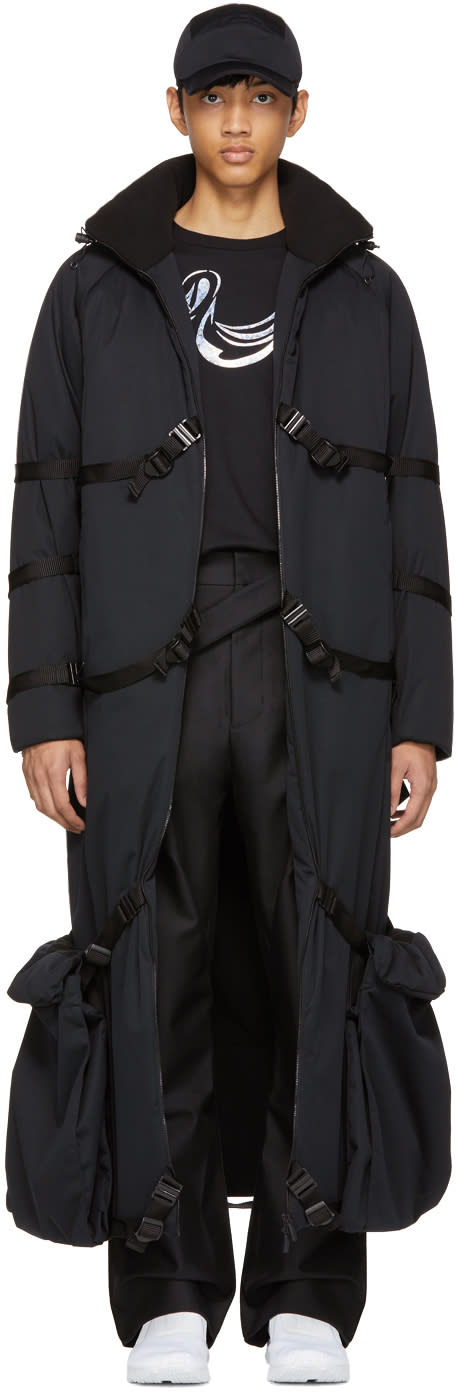 Image of Cottweiler Black Long Puffer Coat