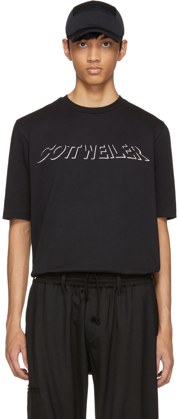Image of Cottweiler Black Holographic Logo T-shirt
