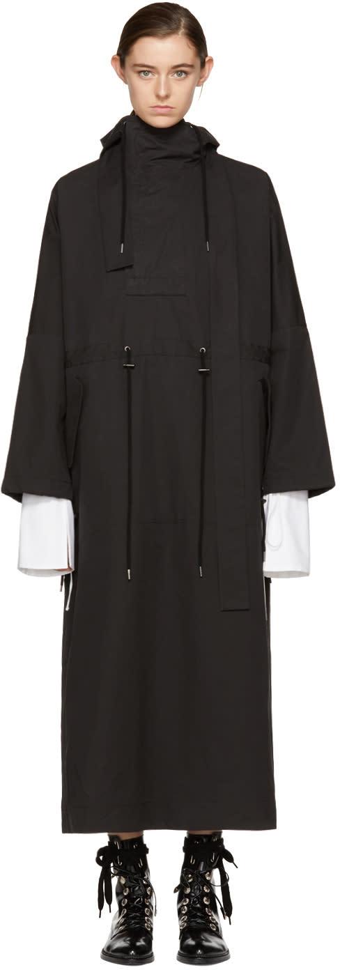 Image of Craig Green Black Kagool Hooded Dress
