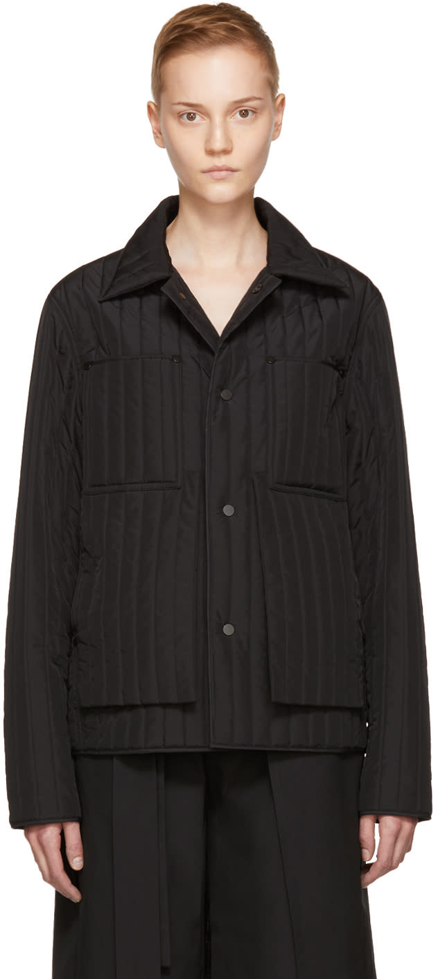 Image of Craig Green Black Core Quilted Workwear Jacket