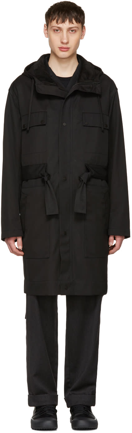 Craig Green Black Worker Anorak Coat