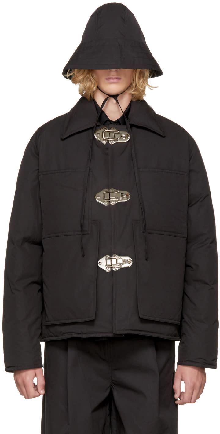 Image of Craig Green Black Down Workwear Jacket