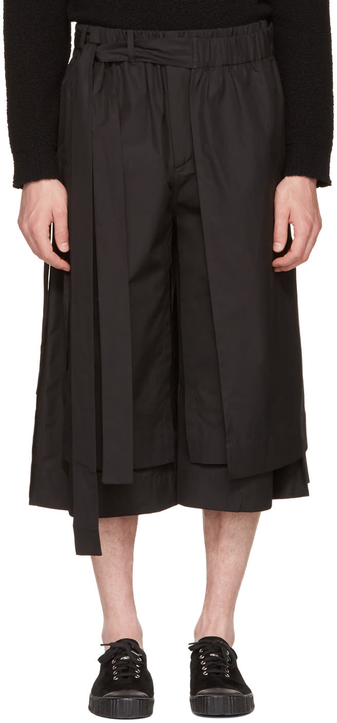 Craig Green Black Layered Track Shorts