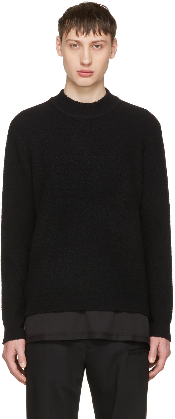 Craig Green Black Boucle Sweater