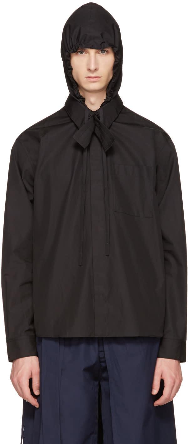 Image of Craig Green Black Hooded Shirt