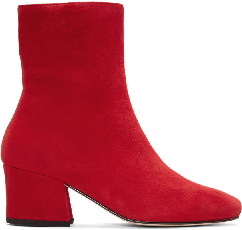 Dorateymur Red Suede Sybil Leek Boots