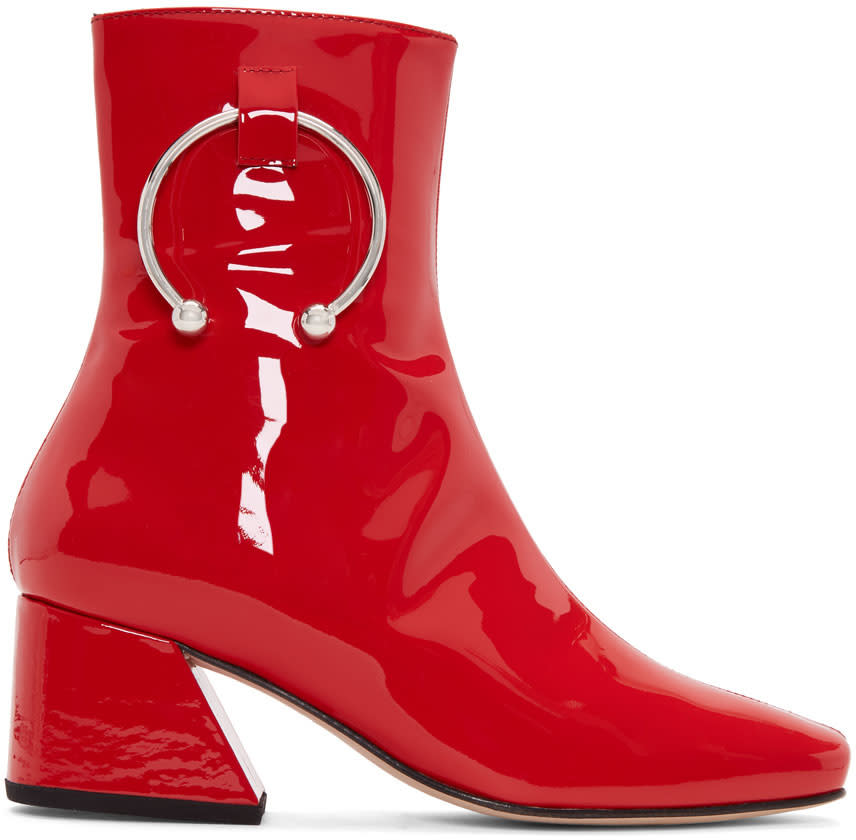 Dorateymur Red Patent Nizip Boots
