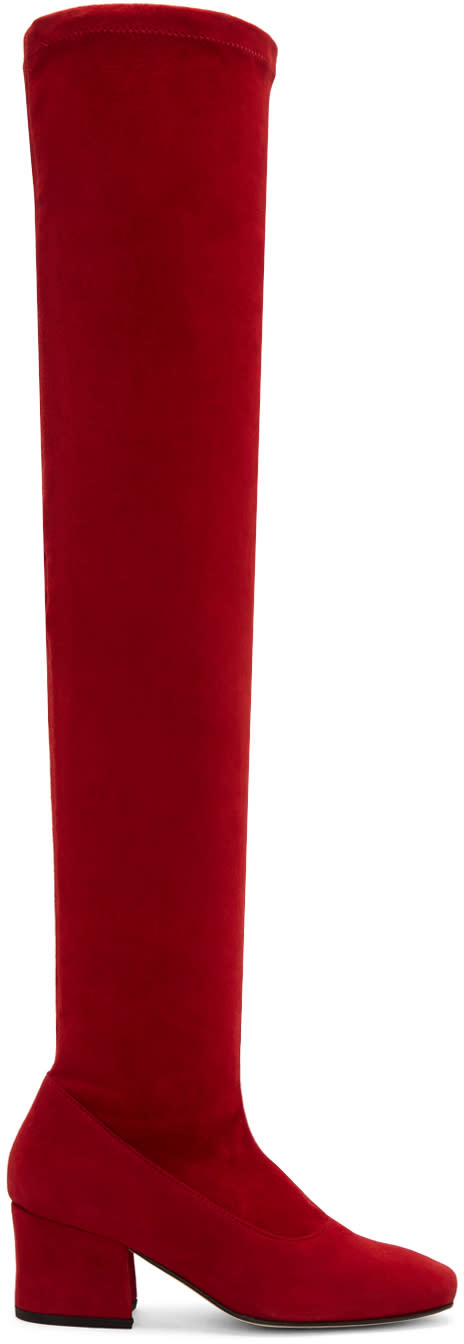 Dorateymur Red Suede Sybil Leek Ii Over-the-knee Boots
