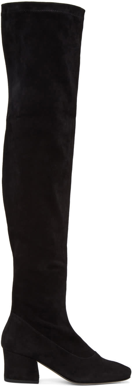 Dorateymur Black Suede Sybil Leek Ii Over-the-knee Boots