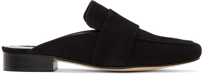 Dorateymur Black Suede Filiskiye Slippers