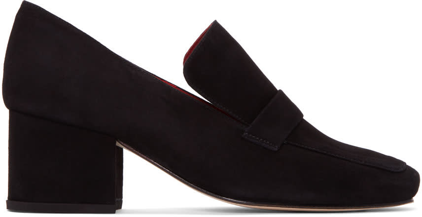 Dorateymur Black Suede Turbojet Heels