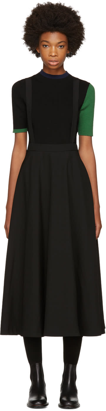 Image of Enfold Black Salopette Skirt