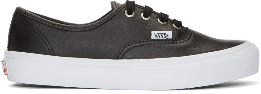 Image of Vans Black Leather Og Authentic Lx Vl Sneakers