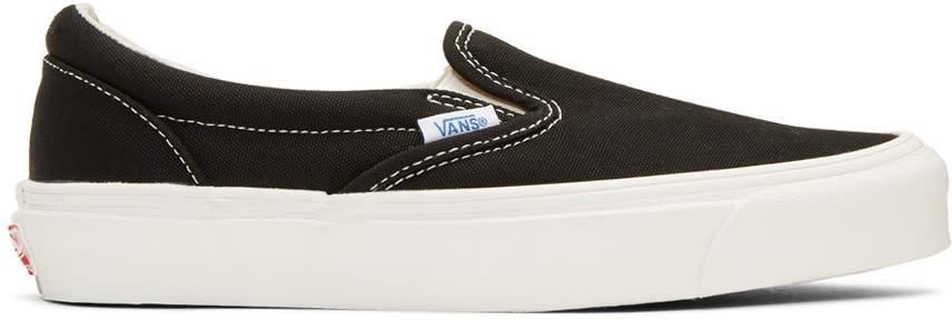 Image of Vans Black Og Classic Lx Slip-on Sneakers