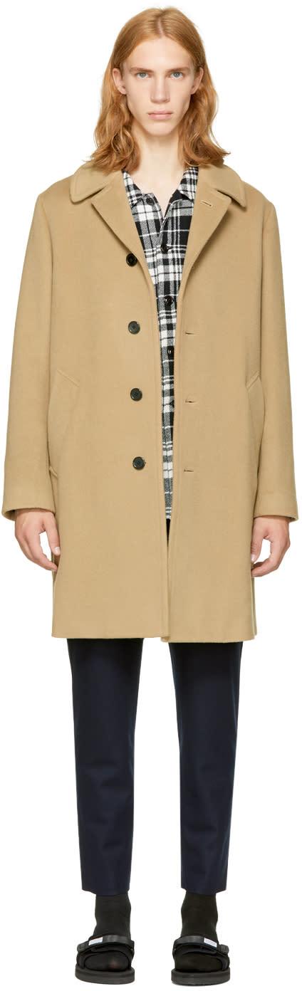 Image of Tomorrowland Beige Bal Collar Coat