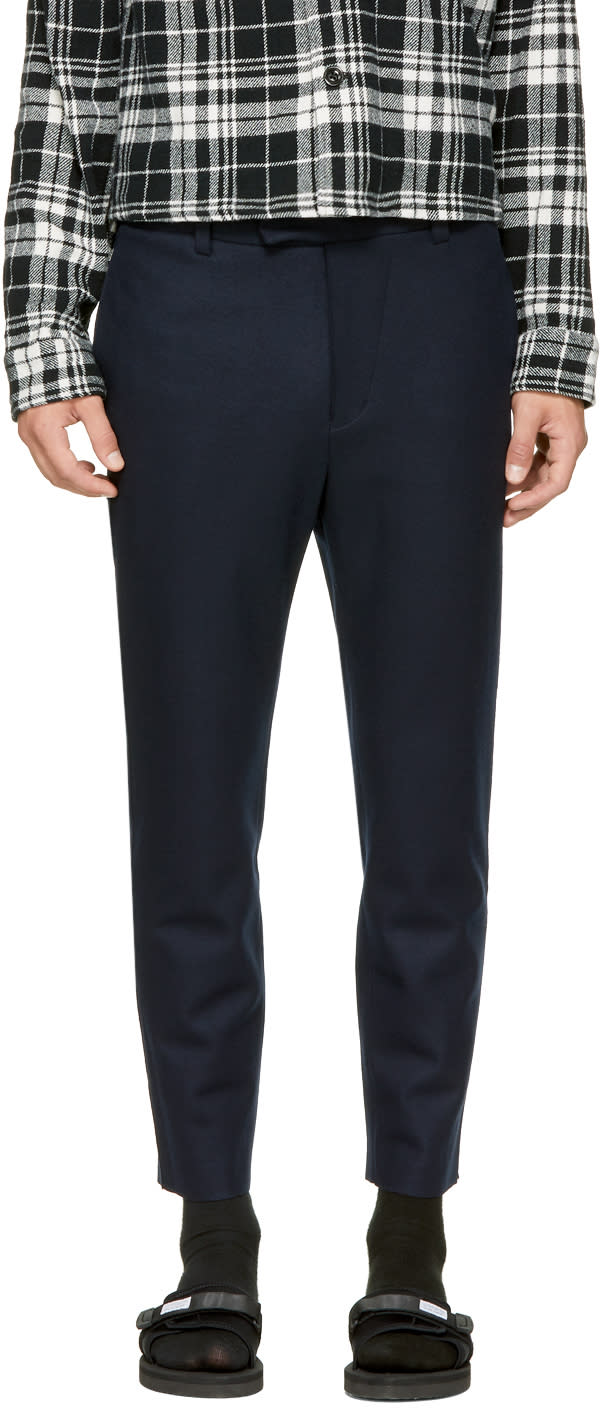 Image of Tomorrowland Navy Cut-off Trousers
