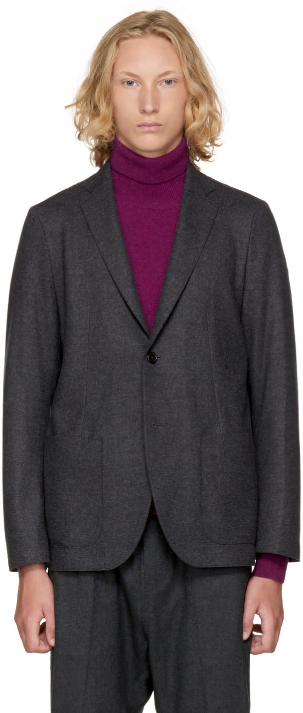 Image of Tomorrowland Grey Cut-off Blazer