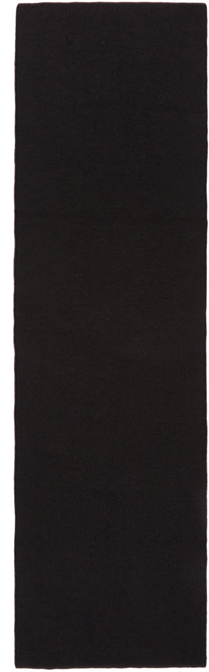 Image of Stephan Schneider Grey and Black Knit Future Scarf