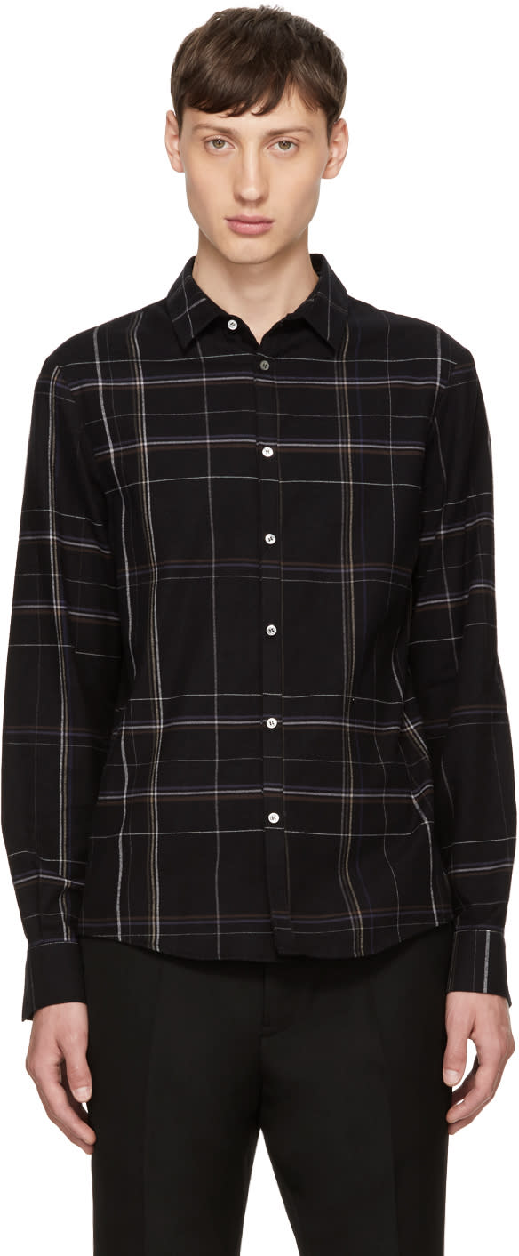 Image of Stephan Schneider Black Plaid Busy Shirt