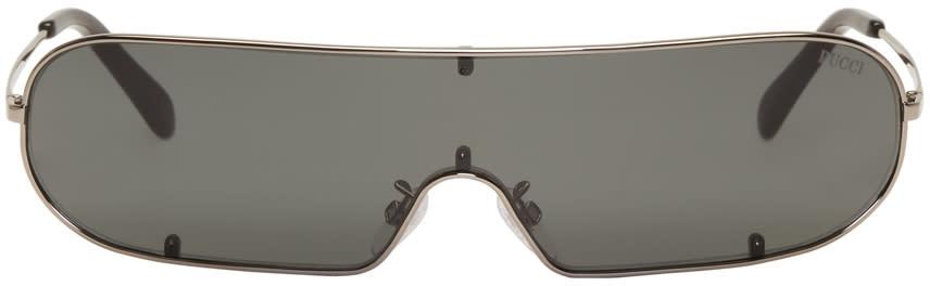 Image of Emilio Pucci Black Shield Sunglasses