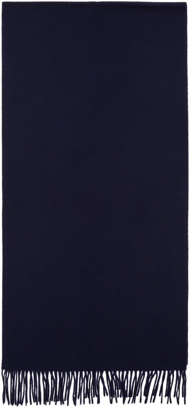 Image of éditions M.r Navy Wool Scarf
