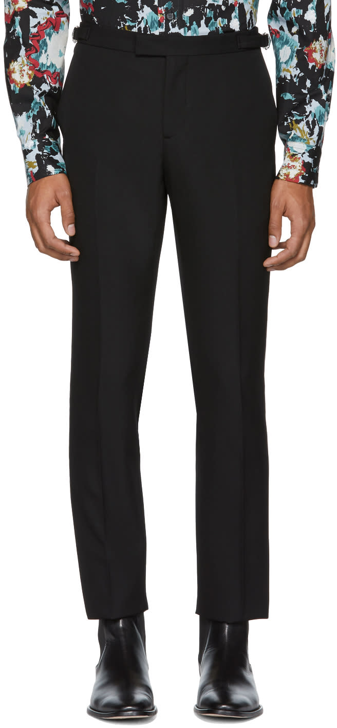 Image of éditions M.r Black Wool Smoking Trousers