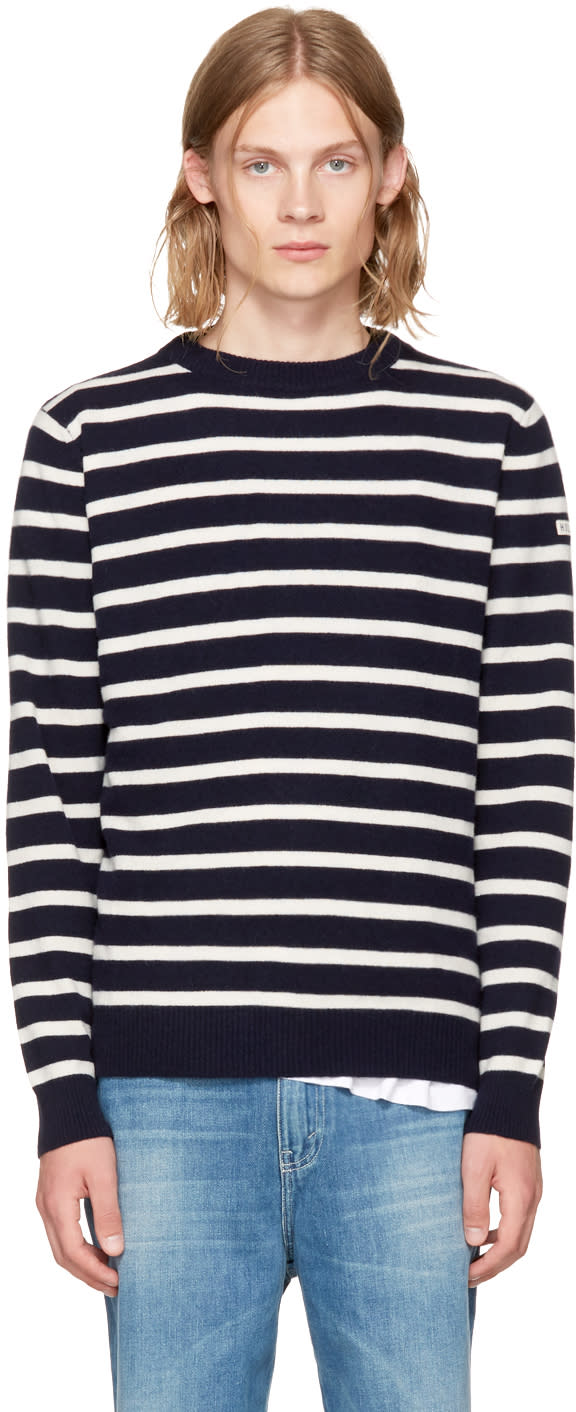 Image of éditions M.r Navy holiday Sailor Sweater