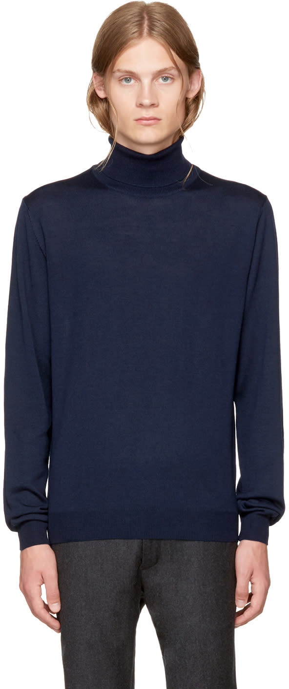 Image of éditions M.r Navy Merino Turtleneck
