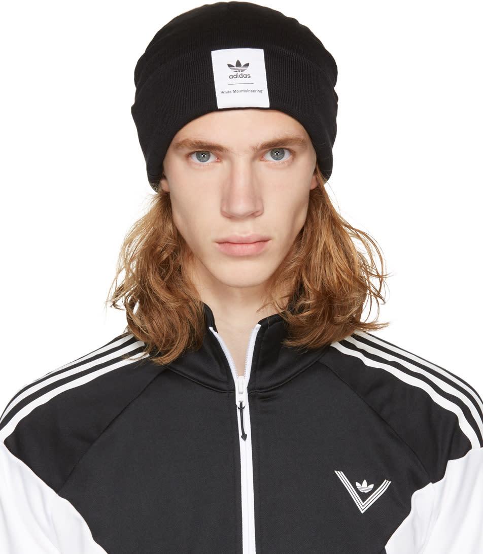 Image of Adidas X White Mountaineering Black Logo Beanie