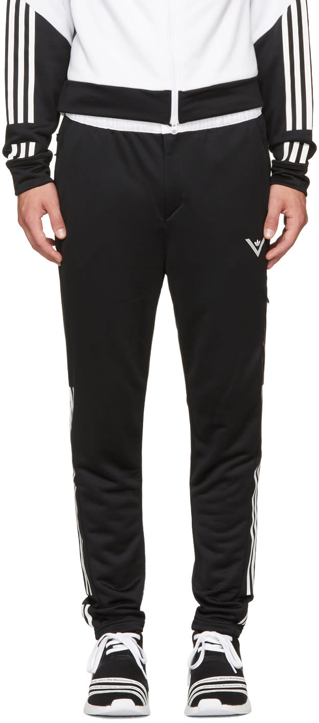 Image of Adidas X White Mountaineering Black and White Track Pants