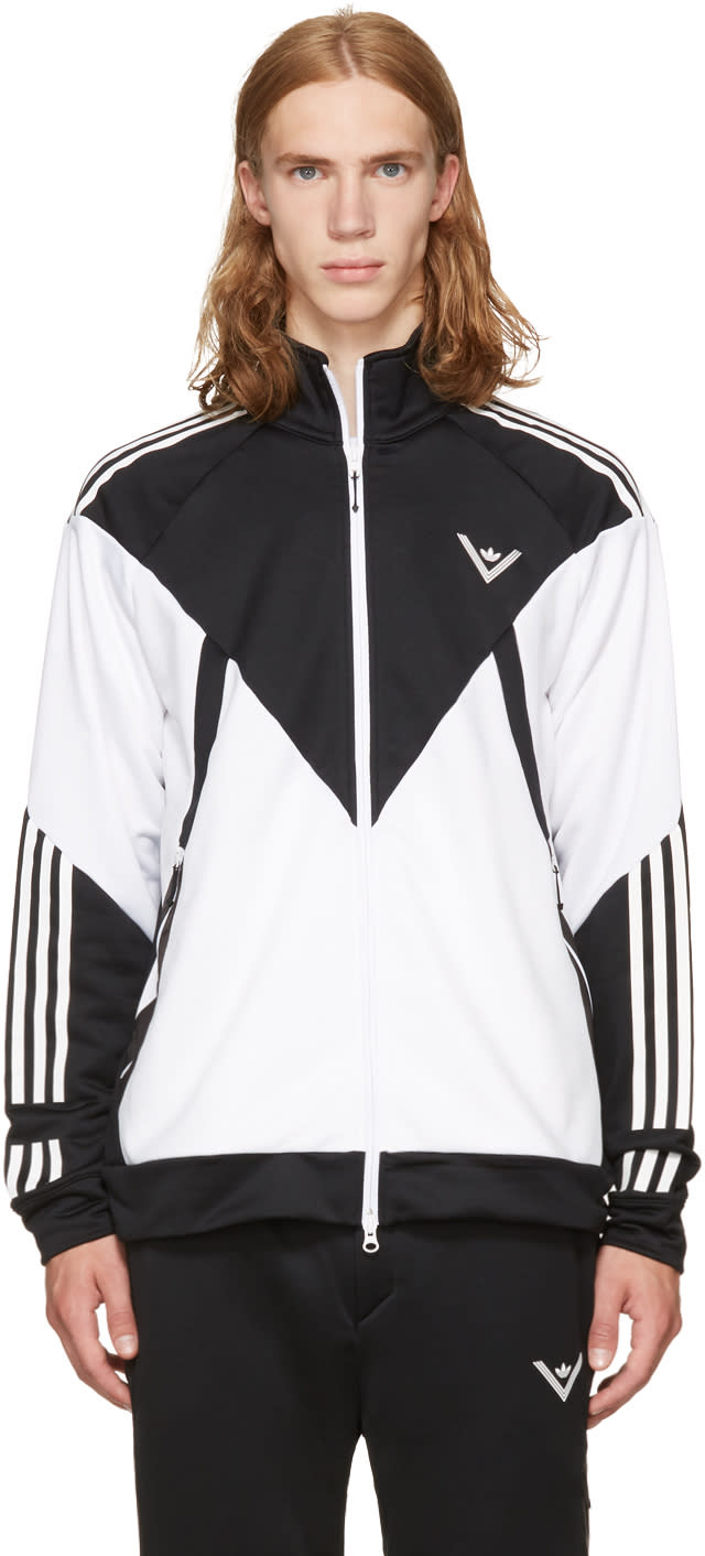Image of Adidas X White Mountaineering Black and White Track Jacket