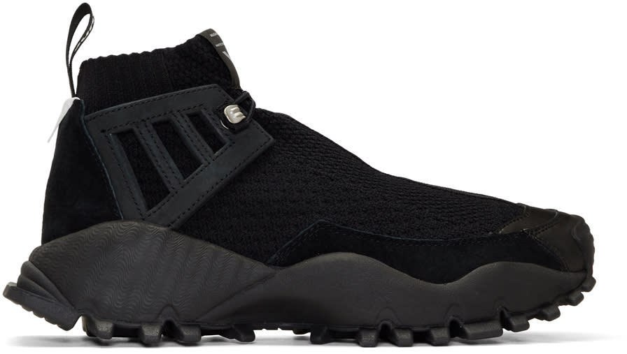 Image of Adidas X White Mountaineering Black Seeulater Alledo Pk High-top Sneakers