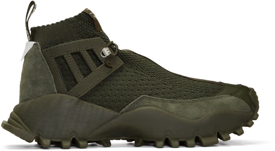 Image of Adidas X White Mountaineering Green Seeulater Alledo Pk High-top Sneakers
