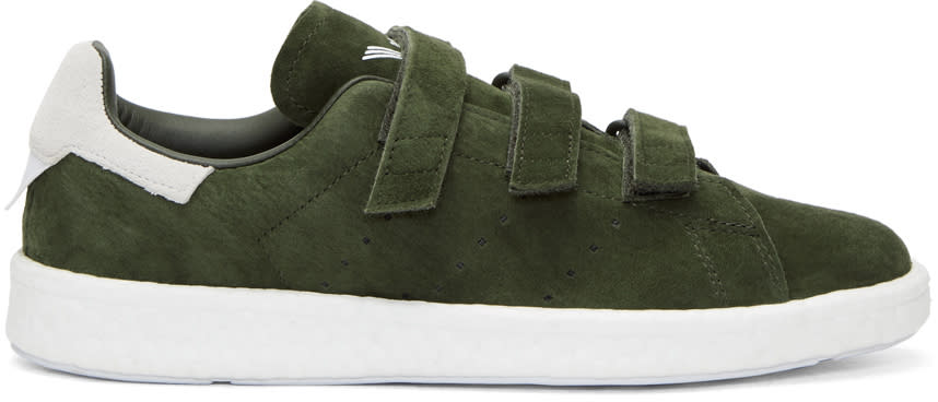 Image of Adidas X White Mountaineering Green Stan Smith Cf Sneakers