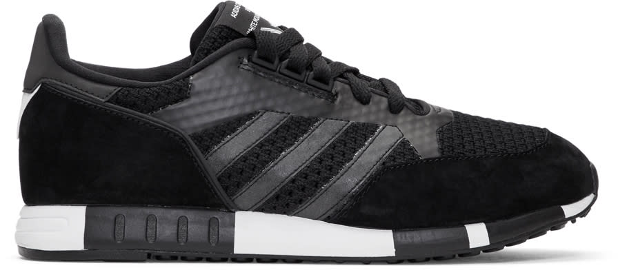 Image of Adidas X White Mountaineering Black Boston Super Pk Sneakers