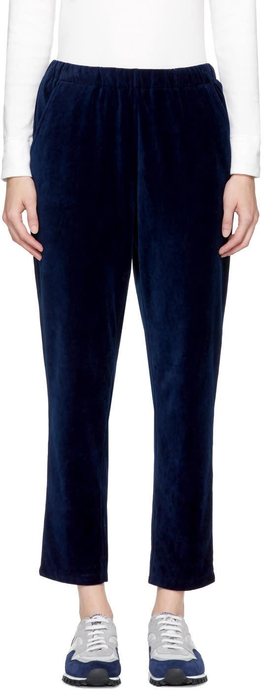 Blue Blue Japan Pantalon En Velours Indigo