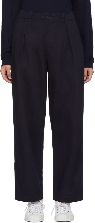 Blue Blue Japan Pantalon Indigo Pin-tuck Work