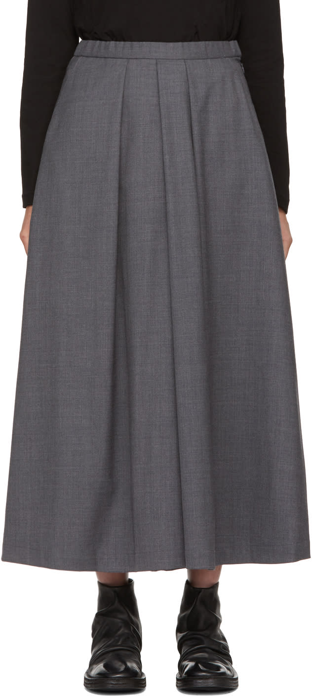 Blue Blue Japan Pantalon En Laine Gris Skirt