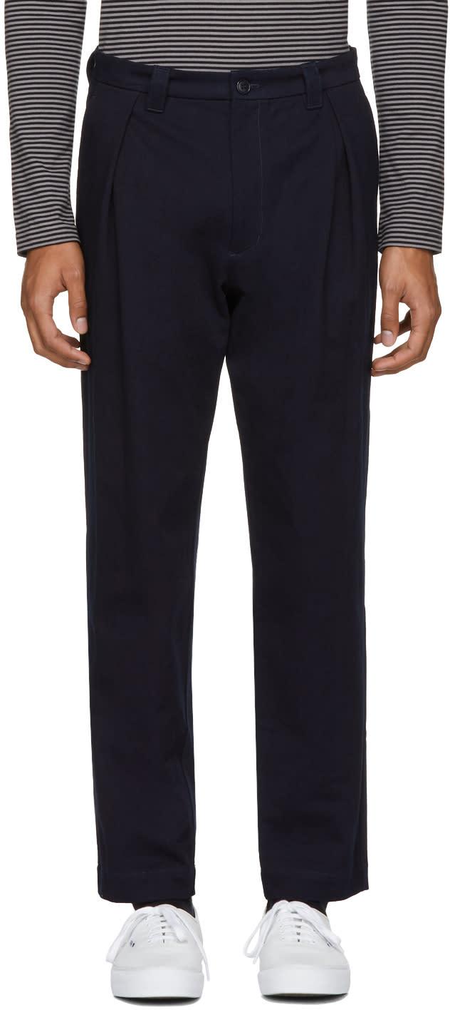 Blue Blue Japan Pantalon Chinos Indigo One Tuck