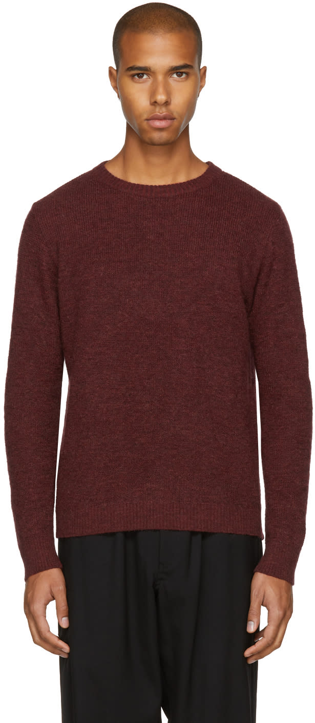 Image of Blue Blue Japan Burgundy Wood Grain Sweater