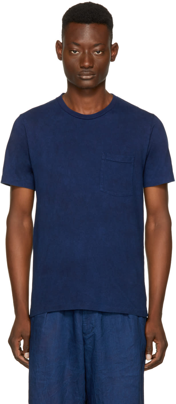 Image of Blue Blue Japan Indigo Mount Fuji T-shirt