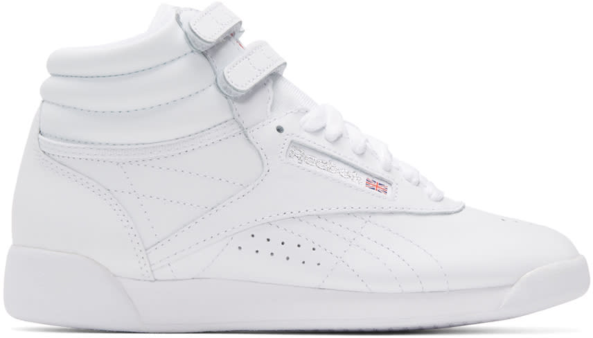 Reebok Classics White Freestyle High-top Sneakers