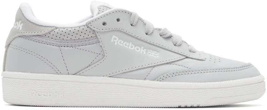 Image of Reebok Classics Grey Club C 85 Perforated Sneakers