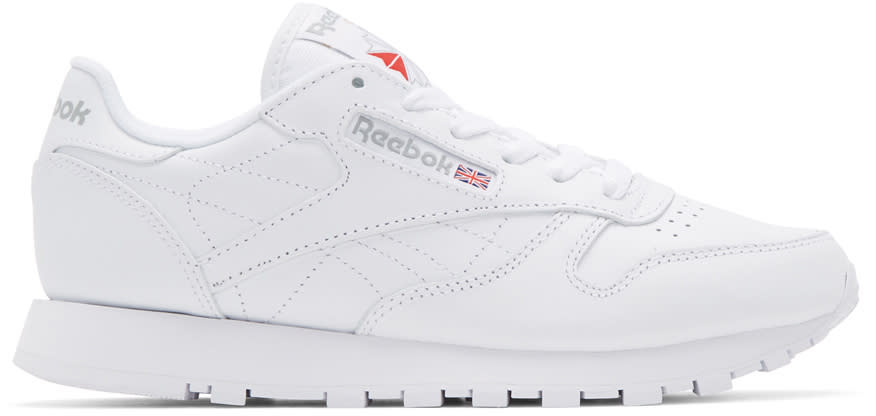 Reebok Classics White Leather Classic Sneakers