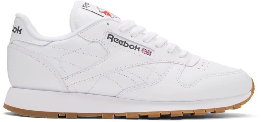 Reebok Classics ホワイト レザー クラシック スニーカー